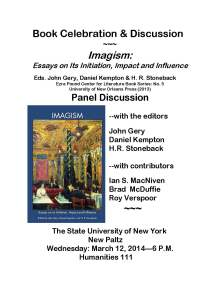 Flyer 1 March 12 2014.New Paltz Imagism Forum