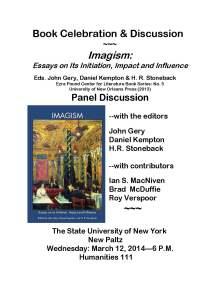 Flyer 1 March 12 2014.New Paltz Imagism Forum